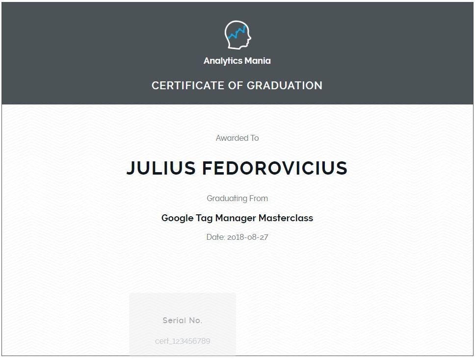 GTM certificate