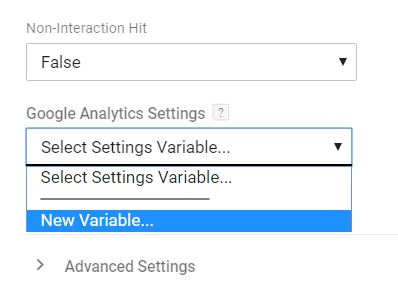 New GA Settings Variable