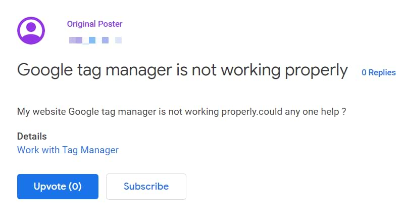 google tag manager help
