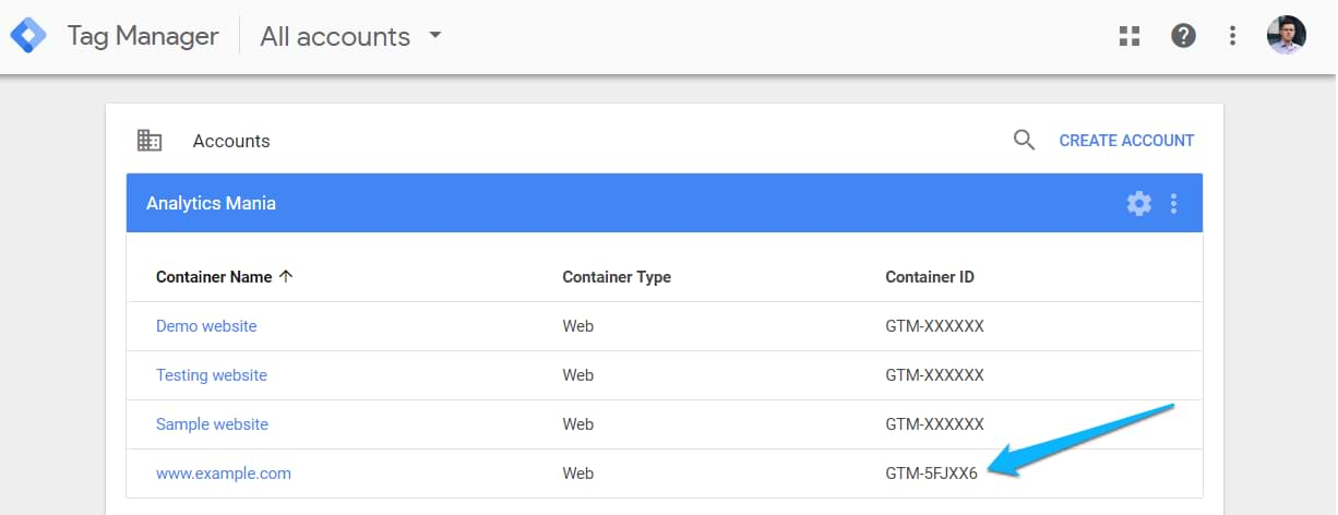Image result for google tag manager containers