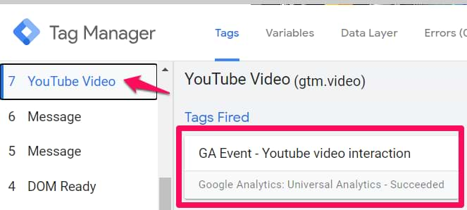 track youtube video with google tag manager