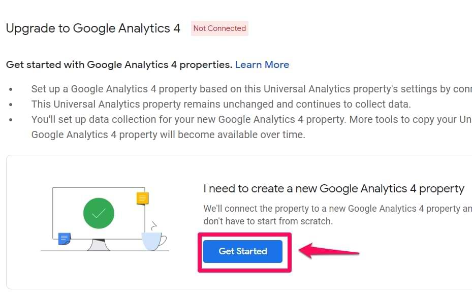 upgrade to google analytics 4