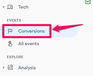 conversions in google analytics 4