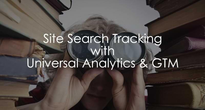 track site search with Universal Analytics
