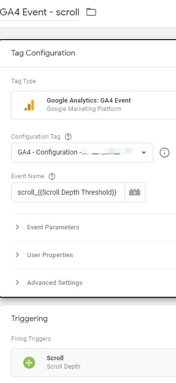 google analytics 4 scroll tracking tag