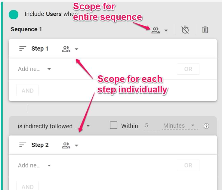 scope in google analytics 4 segments
